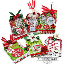 authentique paper jolly christmas window shaker card folio and