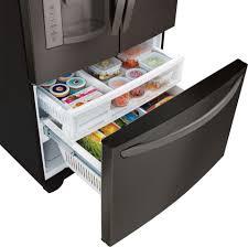 lg bottom freezer french door refrigerator lg lfx28968d 27 6 cu ft french door refrigerator black