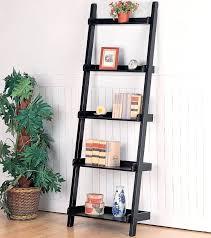 cheap bookcases ladder shelf black wood bookcase espresso