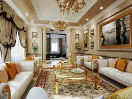 Living Room Ideas Gold Wallpaper Beautiful And Luxurious Living Room Decor Ideas With White Floral