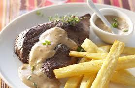 cuisiner l igname steak de viande chevaline frites d igname et sauce piquante