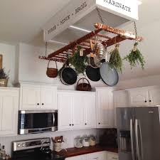kitchen island pot rack lighting kitchen island pot rack lighting foter with pan decor 3