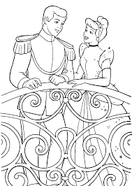 printable cinderella story kids coloring
