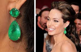 emerald green earrings green gem earrings on the hunt