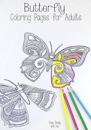 butterfly coloring pages for adults easy peasy butterfly and