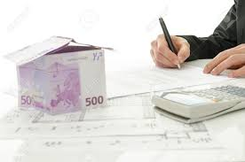 signing contract of house sale with house made of 500 euro money