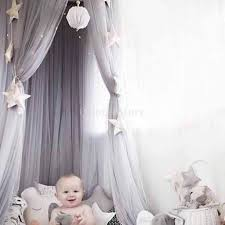 Princess Bed Canopy Dome Princess Bed Canopy Mosquito Net Kids Play Tent Curtains Gray
