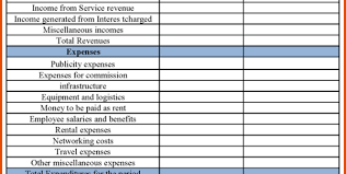 Income Statement For Non Profit Organization Template by Free Business Financial Statement Template Financial Statements