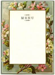 vintage french menu blossom frame the graphics fairy