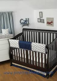 Gray Chevron Crib Bedding Baby Boys And Can Travel In Style With This Grey Chevron