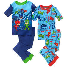 pj masks boys u0027 licensed cotton 4 piece pajama sleep sets walmart