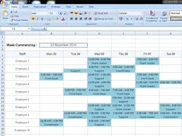 Staff Roster Template Excel Free Free Rota Template Rotacloud