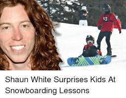 Shaun White Meme - shaun white surprises kids at snowboarding lessons meme on me me