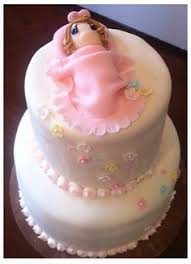 precious moments baby shower cake that says