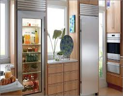 have a glass front refrigerator residential in your home without