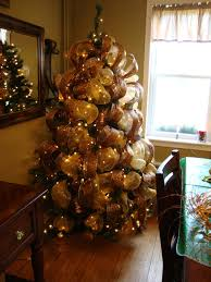 How To Decorate Garland With Ribbon Gold Mesh Ribbon For Christmas Tree Rainforest Islands Ferry