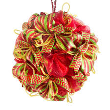 deco mesh christmas ball kit craftoutlet com