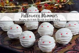 Halloween Cake Balls by Halloween Mummies Strawberry Cake Bites With White Chocolate