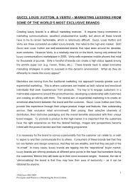 Experiential Marketing Resume 22 Gucci Brand Luxury Goods