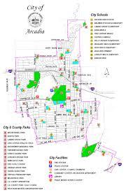 California City Map Arcadia City Parks Map Arcadia California U2022 Mappery