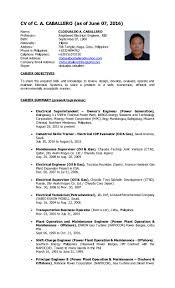 Plumber Resume Electrical Supervisor Resume Virtren Com