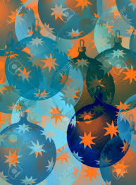 Pastel Blue Christmas Decorations by Pattern With Christmas Decorations In Blue And Orange Stock Photo