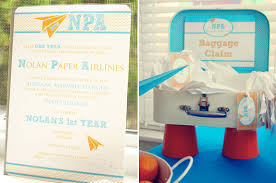 Personalized Cotton Candy Bags Paper Airplane 1st Birthday Party Theme At Home With Kim Vallee