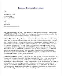 sample letter of intent for business partnership letter idea 2018