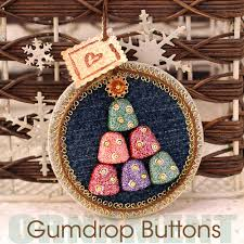 gumdrop button christmas tree ornament