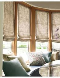 Noble Curtains Smith Noble Relaxed Roman Fabric Shades In Linen Perfection