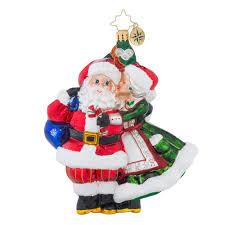 christopher radko ornaments radko mr mrs mistletoe santa