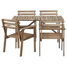 Patio Table And Chairs Set Ikea A Small Balcony Furnished With A Dark Brown Foldable Table