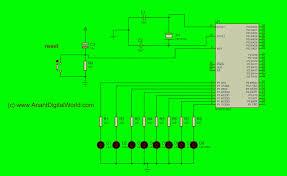 Led Blinking Circuit Diagram Led Blinking Using 8051 Embedded C Anant Digital World