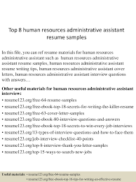 Hr Administrative Assistant Resume Sample by Hr Administrative Assistant Resume Free Resume Example And