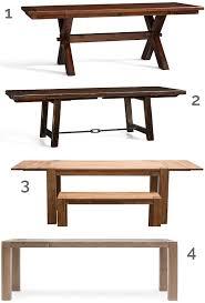 pottery barn farm dining table farm style rectangular tables diy farmhouse dining table plans