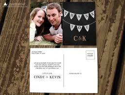 wedding thank you postcards items similar to chalkboard bunting thank you postcards custom