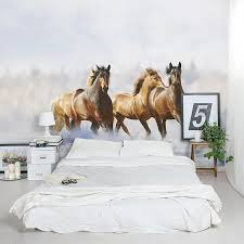 Horse Murals by Fascinating Horse Racing Wall Decals Winter Horses Wall Mural