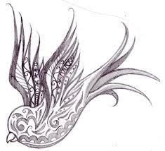 swallow tattoo drawing