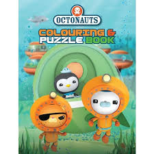 octonauts colouring puzzle book abc shop