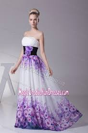 middle school graduation dresses printing colorful chiffon middle school graduation dress