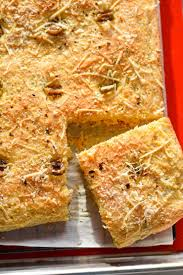 olives and parmesan cornbread focaccia recipe chefdehome