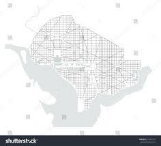 Maps Of Washington Dc by Vector Map City Washington Dc Usa Stock Vector 611871107