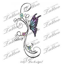 47 best butterfly name tattoos images on name tattoos