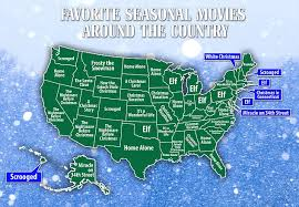 most popular christmas movies in the us mapped out state by state
