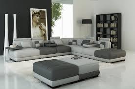 canapé d angle cuir canapé d angle en cuir italien 7 8 places elixir gris clair et gris