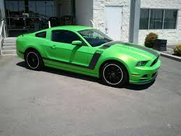 Black And Lime Green Mustang Got Rid Of The 5 0 On Tuesday Ford Mustang Forum