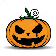 vector illustration of cartoon halloween pumpkin u2014 stock vector