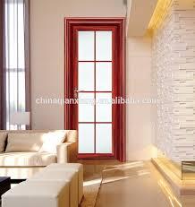 tempered glass door interior aluminium bathroom swing door toilet