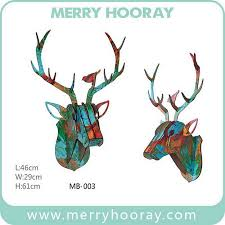 wooden animal wall modern mdf wood animal wall hanging 3d wood moose for