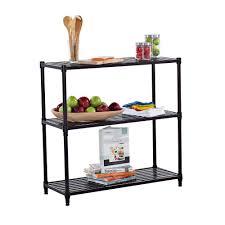 decorative shelves home depot trinity 36 in x 35 in 3 tier dark bronze slat decorative shelf